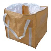 China UV treated rectangular shaped pp container bag 500kg for sugar, salt , flour wholesale