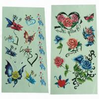 China Temporary/Removable Skin Tattoo Stickers, Eco-friendly, Last for Several Days wholesale