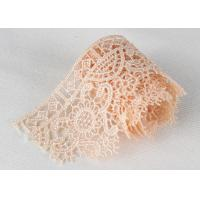 China Poly Venice Lace Trims Custom Embroidered Water Soluble Lace For Wedding Dresses wholesale