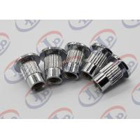 China Lathe Machining Turned Metal Parts Chromium Plated Iron Nuts With Through Thread wholesale