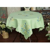China Pretty Square Decorative Table Cloths Multiple Colors Custom Embroidered Tablecloths wholesale