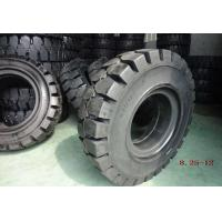 China Black Solideal Forklift Tires , Pneumatic Forklift Industrial Tyres 8.25-12 wholesale