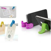 China Hot sale Logo printed magnet silicone smart phone stand M-Clip wholesale