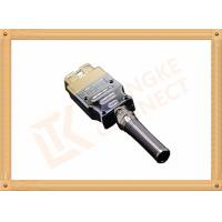China Golden Plated Metal 16 Pin Obd Connector J1962 OBD Male Connecor Housing Strain Relief wholesale