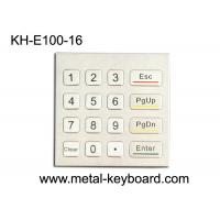 China Rugged Waterproof Access Control Keypad , Stainless Steel Numeric 16 Key Keypad wholesale