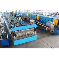 China 11KW X 2 Floor Deck Roll Forming Machine Chains Drive Wall Board Structure wholesale