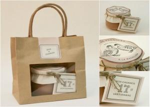 China Gift paper bag with window - fashion & beautiful wholesale