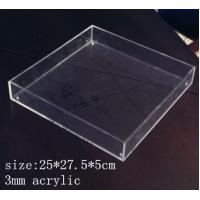 China Rectangle Clear Acrylic Tray 3mm acrylic service tray wholesale
