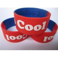 25mm wide silicone bracelet promotion gift with logo embossed