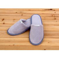 China 100 Percent Cotton Velour Velvet Disposable Hotel Slippers , Disposable Bathroom Slippers wholesale