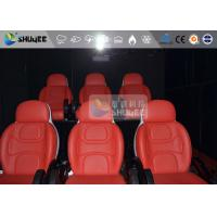 China Electric System Vibration / Movement Effect 6D Motion Seats Movie Theater Equipment wholesale