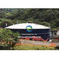 Buy cheap Corrosion Resistant Glass Lined Water Storage Tanks With Roof 0.25 - 0.40mm from wholesalers