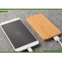 China 8000mAh Portable Mobile Power Bank Dual Port Bamboo Solid With Polymer Battery Battery wholesale
