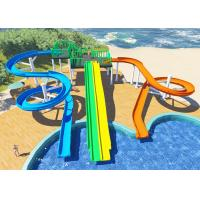 China Personalized Household Water Park Design Multicolors Fiberglass Body wholesale
