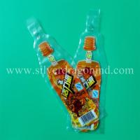 Custom plastic beverage bags, drink bags and water bags, made by Silver Dragon