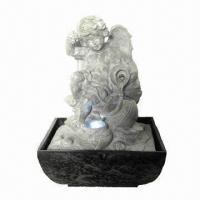 China Polyresin Angel Fountain with LED wholesale
