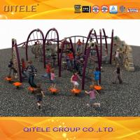 China Physical Activity Kids Outdoor Gym Equipment Climbers And Slide For Age 5 - 12 wholesale