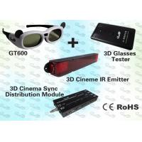 China 3D Cinema Solution with IR Emitter and Active Shutter 3D Glasses wholesale