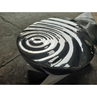 China Water Pattern Seat Sculpture , Handmade Outdoor Garden Ornaments Furnishings wholesale