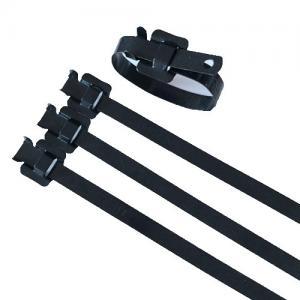 China Security Large Black Zip Ties , Heavy Duty Reusable Cable Ties Antirust wholesale
