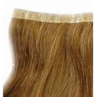 China Golden skin weft hair weft PU skin weft hair extension wholesale