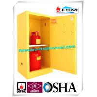 China Fireproof Steel Flammable Liquids Cabinet 15 Gallon For Hazmat Storage wholesale