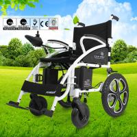 China Custom Collapsible Electric Wheelchair , Travel Wheelchair Lightweight 130kg wholesale