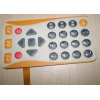 China Multi-color Embossed Control Switch Panel For Industrial Control / Medical Equipment wholesale