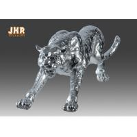 China Polyresin Animal Figurines Glass Tiger Statue wholesale
