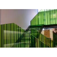 China Monolithic Building Decoration Silk Screen Ceramic Printed Glass Partition 10mm 12mm wholesale