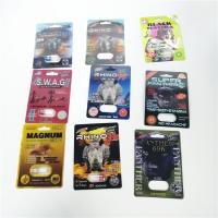 China Man Sex Paper Card Blister Pack Packaging Burro Rhino Black Mama Packing Single Double Hole wholesale