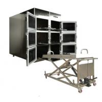 China ROUNDFIN morgue six body mortuary refrigerator/6 corpse morgue freezer for sale wholesale