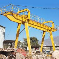 China 50 Ton Electric Mobile Rail Mounted Double Girder Gantry Crane Compact Structure on sale