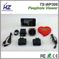 China 2.4GHz wireless wide angle door viewer 3.5''touch screen wireless unlock control peephole on sale