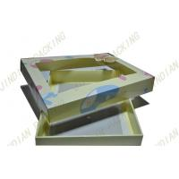 China Simple Foldable Card Paper Packaging Boxes For Clothes With Pet Clear Window wholesale