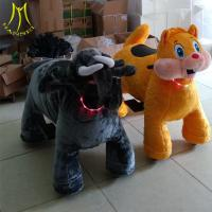 China Hansel  electronic dog toy electric riding toys plush toys stuffed animals on wheels wholesale