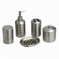 China 5pcs Stainless Steel Bathroom Set wholesale
