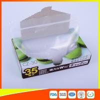 Transparent Plastic Zipper Top Zip Lock Bag For Cold Food Storage FDA Approved for sale