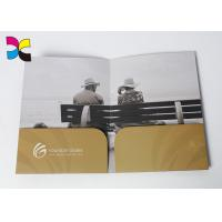 China Environment - Friendly Printed File Folders With Pockets ,  Luxurious Restaurant Bill Folder wholesale
