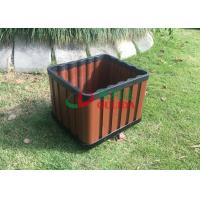 China Recyclable 100% Composite Planter Boxes , Composite Wood Planters No Cracking wholesale