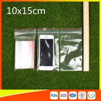 China 10 x 15 Clear Reclosable Zipper Plastic Bag / Self Sealing Poly Bag wholesale