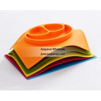 China Custom made any different shape Silicone Baby and Toddler Divided Plate wholesale
