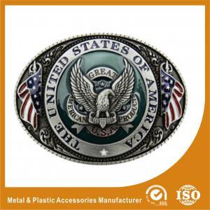 China Engravable Black Silver Western Custom Belt Buckle For Belt Accessories wholesale