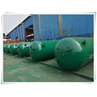 China 10mm Thickness Vertical Compressed Air Reservoir Tank With Flange / Screw Thread Connector wholesale