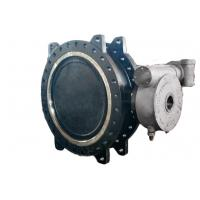 China Low Torque Double Flanged Butterfly Valve , High Temp Butterfly Valve Field Replaceable Seats on sale