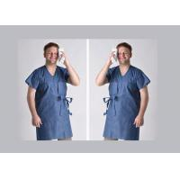 China Short Sleeve Blue Plastic Disposable Isolation Gowns wholesale