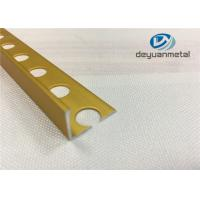China Bright Golden Square Aluminium Trim U Profile With Hole Punched wholesale