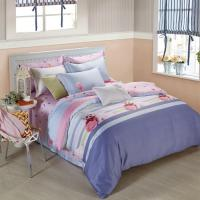 China King Size 6 Piece Home Coral Bedding Sets Silk Material Most Comfortable wholesale