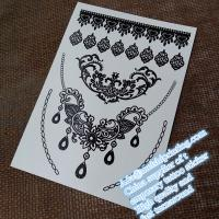China Stunning black henna temporary tattoo sticker YHB008 wholesale