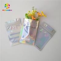 China Wedding Cake Plastic Pouches Packaging Three Side Sealed Zipper Bags With Hologram Effect wholesale